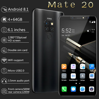 """AU 6.18"""" Mate 20 Pro Smartphone 4+64GB Android Unlocked Mobile Phone Face ID New"""