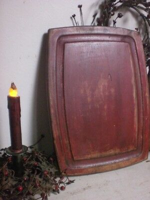 Primitive Red Wooden Cutting Board - Wood Chopping Board