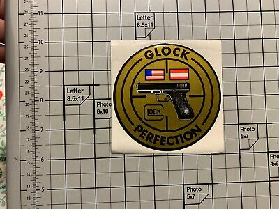 RARE - Vintage Glock Perfection Sticker In Gold US/Austria - New Old Stock
