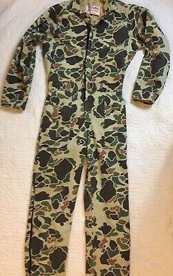 Vintage Walls Blizzard Pruf Camouflage Coveralls Youth Boys 16 Regular Insulated