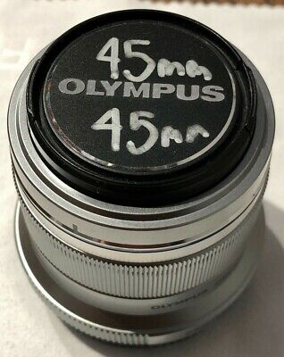 Olympus M. Zuiko Digital 45mm f/1.8 Lens for Micro 4/3, Silver