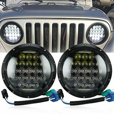"Pair 7"" 5D 130w Philip LED Projector Headlight DRL for Jeep Wrangler JK"