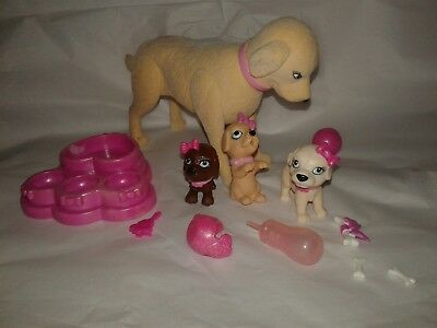 Barbie Doll Pets Taffy Mom Dog And Puppies Luv Me 3 Drink Wet Puppy