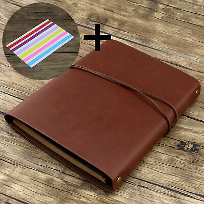 Retro Vintage Leather Cover Photo Album Scrapbook Guest Memory Book Diary Gift