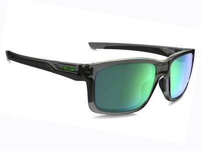 45bc6dc342 Oakley Mainlink Men Sunglasses Rectangular OO9264-04 Grey Smoke   Jade  Iridium