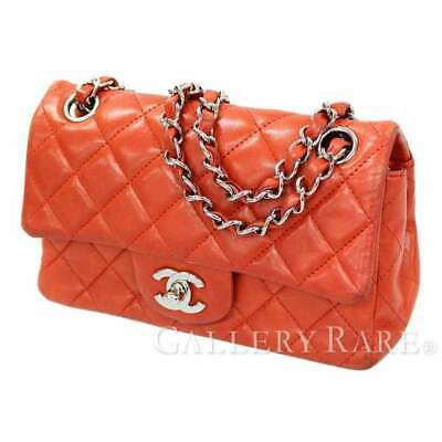 cbfcc9c95b1e CHANEL Mini Matelasse Lambskin Red Shoulder Bag A69900 Italy Authentic  5213436
