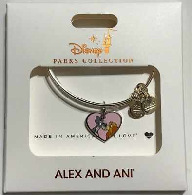 Disney Parks Alex And Ani Lady And The Tramp Charm Bracelet