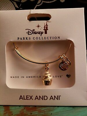 Disney Parks Dole Whip Charm Bangle by Alex and Ani New!