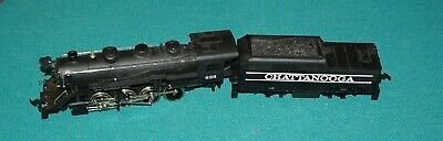 Steam Locomotive With Tender Chatanooga 638 HO Scale Looks In Good Condition.