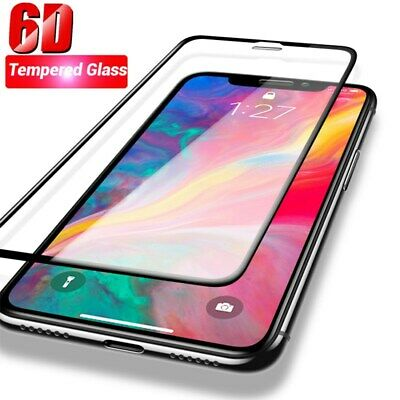 2PCS For iPhone X XS Max XR 6D 9H Full Cover Tempered Glass Screen Protector NEW