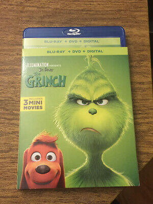 Illumination Dr. Seuss The GRINCH(Blu-ray) Case W/Art & Slip Cover,No DVD,No Dig
