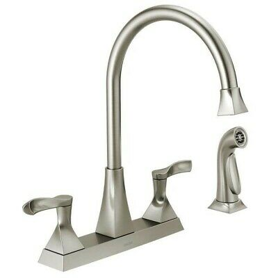 DELTA EVERLY 2-HANDLE High-Arc Kitchen Faucet w/ Side ...