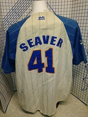newest f4dcd abfda VINTAGE MIRAGE TOM Seaver New York Mets Cooperstown MLB Team Jersey medium