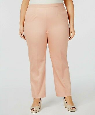 7d963fd556 Alfred Dunner Women's Pants Pull-On Straight-Leg Apricot Plus Size 22WM  MSRP $52