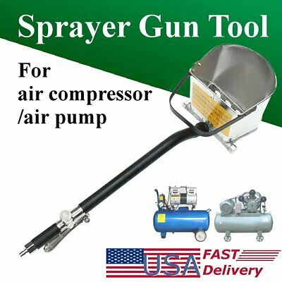 4 Jet Stucco Sprayer Plaster Cement Lime Mortar Spray Gun Hopper Wall Paint Tool