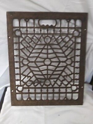 Antique cast iron floor vent. Size15 1/4 by 12 1/4 inch.