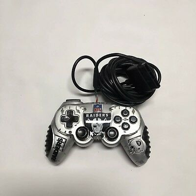 Sony Playstation 2 PS2 Dual Shock Mad Catz Controller Oakland Raiders