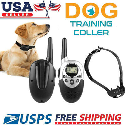 Shock Vibrate Remote Training Collar for Small Med Large Dog 1000Yard Waterproof