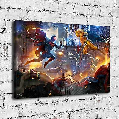 "12""x18""Superman Vs Sentry HD Canvas prints Painting Home decor Room Wall art"
