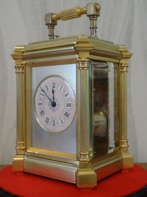 Substantial heavy Henri Jacot repeater carriage clock - 1875/78 - fully restored