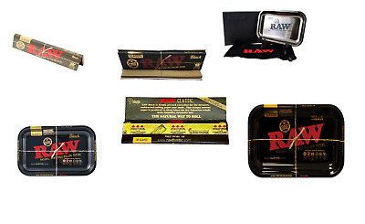"""RAW Limited Edition Black Rolling Papers & Tray"""" 27.5cm x 17.5cm"""