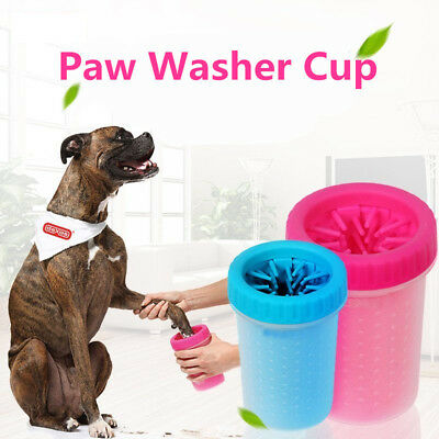 Portable Pet Paw Plunger Mud Cleaner Washer Mudbuster Dog Cat Pet Paw Cup UK NEW