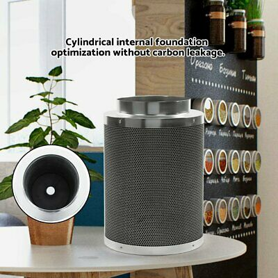 """8"""" Air Carbon Charcoal Filter Inline Fan Scrubber Odor Control Gardening BE"""