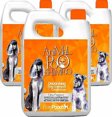 Pretty Pooch 15L Fox Poo Dog Shampoo Conditioner Deodoriser Smelly Itchy Dogs