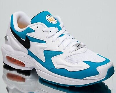 timeless design 75c0a 304b5 Nike Air Max 2 Light Dolphins New Men s Lifestyle Shoes White Blue  AO1741-100