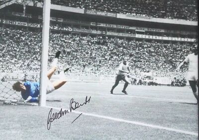 GORDON BANKS SIGNED PELE SAVE OF THE CENTURY 16x12 PHOTO FROM HIS AGENT £18