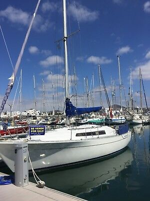 Yacht boat in Lanzarote Canary Islands, REDUCED