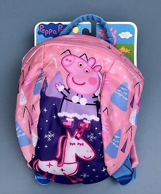 Peppa Pig Backpack Rucksack with Reins bag BNWT pink toddler Gift Present
