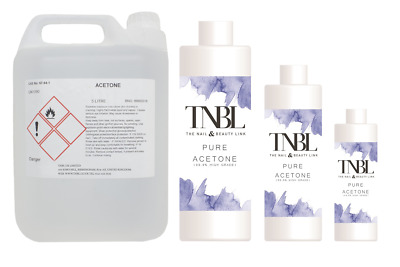 TNBL PURE ACETONE 99.5% NAIL POLISH REMOVER ** Various Sizes **