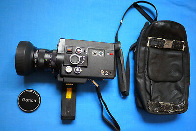 Canon 814 XL Electronic Super8 Film Camera  1:1.4 / 7.5-60mm Zoom Lens C-8 Macro
