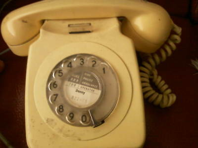 Vintage dial telephone Cream colour