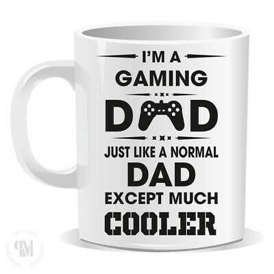 GAMING DAD MUG Christmas Gift Fathers Day Birthday Best Daddy Men His Cool 490