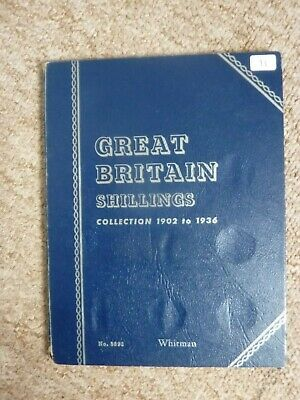 great britain shillings collection  1902-1936 in whitman folder