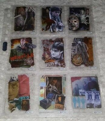 Harry Potter and Deathly Hollows Pt.2 Base Clear Trading Card Set (Artbox, 2011)