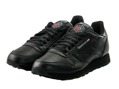 REEBOK CLASSIC LEATHER 2267 Herren Sneakers Turnschuhe Leder Schwarz Black