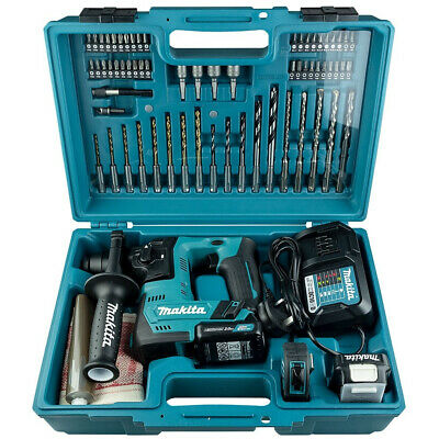 Makita HR140DWAE1 12V CXT 14mm Rotary Hammer with 2x 2.0Ah Batteries Plus Access