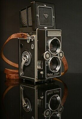 CASED ROLLEI MAGIC 6X6 TLR CAMERA 75mm f3.5 XENAR TAKING LENS