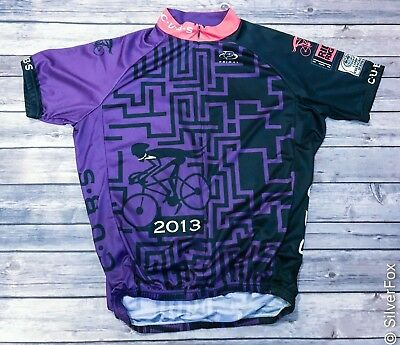 detailed look a97f5 c3465 CHICAGO URBAN BICYCLING Society C.U.B.S. Bike Cycling Jersey ...