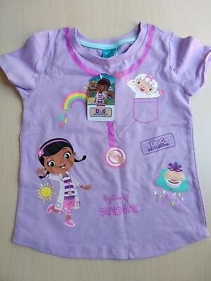New with tags Doc McStuffins T-shirt Top size 4 Lambie Rainbow