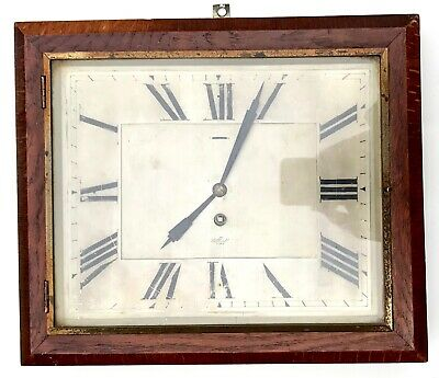 Superb Vintage Elliott Wall Clock With Silvered Dial Art Decom