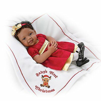 Ashton Drake Baby's First Christmas Signature Edition Baby Doll by Waltraud Hanl