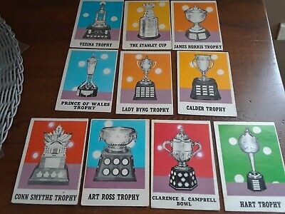 Lot Of 10 Opc 1970-71 Trophies Hockey Cards Vintage