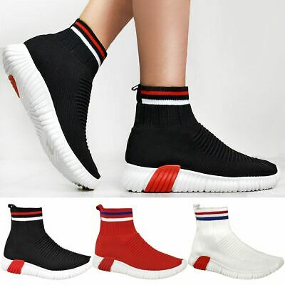 0efb209922bbb Womens Ladies Speed Trainers Sock Sneakers Runners Stretch Fitness Gym  Stretch