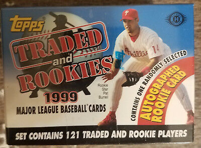 1999 Topps Traded and Rookies Factory Sealed Set w / 1 rookie card autograph