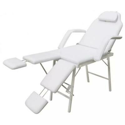 Portable Massage Cosmetic Beauty Pedicure Treatment Waxing Table Chair Bed White
