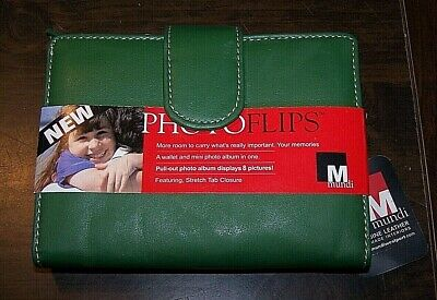 MUNDI PHOTO FLIPS WALLET - Pull-Out Album + more! - Green - NWT!